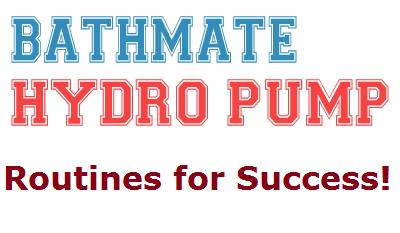 bathmate penis pump Routine